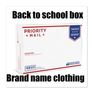 Back to school mystery box brand name clothing